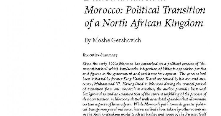 Democratization in Morocco: Political Transition of a North