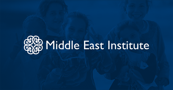 middle east institute logo with blue background